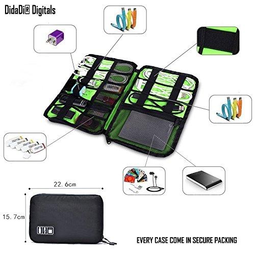 DidaDi 20 Pockets Digital Gadget Case For Cables, Chargers,