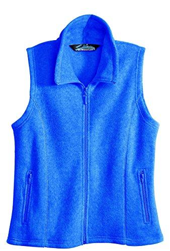 Tri-mountain Womens micro fleece vest. 7020 - IMPERIAL BLUE_4XL