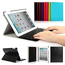 iPad 2/3/4 Keyboard Case, Symbollife Apple Bluetooth Ipad Keyboard Ultra Slim Pu Leather Folio Smart Case Stand Cover + Removable Wireless Bluetooth Keyboard with Retina Display Black