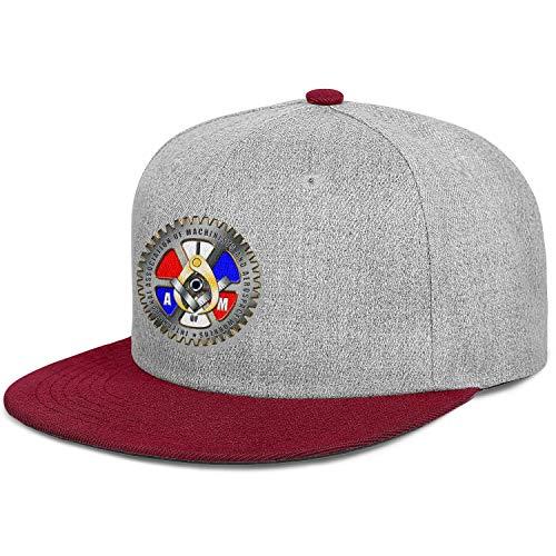 WJINX IAM Local 264 Boston Unisex Vintage Flat Brim Cap Lightweight Adjustable Trucker Hat