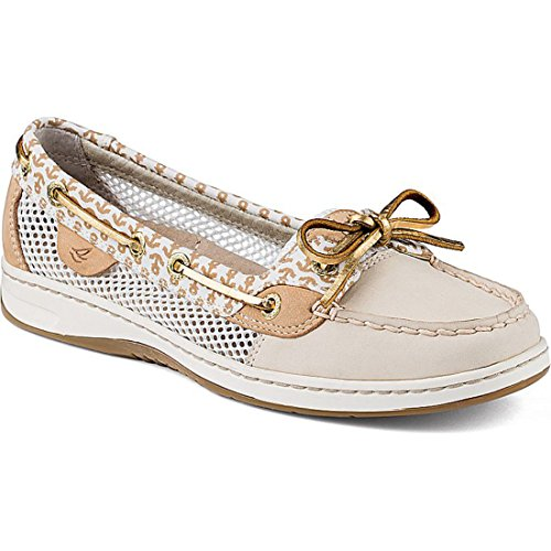 Sperry Top-Sider Women's Angelfish 2-Eye Critters Boat Shoe Ivory 7.5 M US