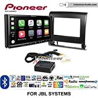 Volunteer Audio Pioneer AVH-2440NEX Double Din Radio Install Kit with Apple CarPlay, Android Auto and Bluetooth Fits 2012-2015 Toyota Tacoma with Amplified System