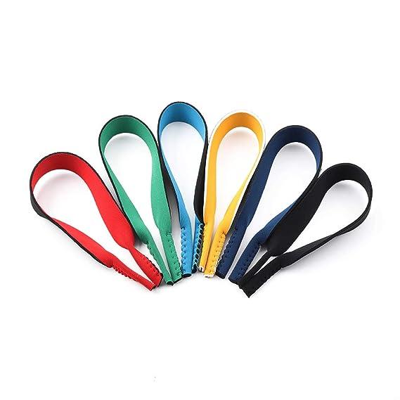 Surplex Paquete de 6 Gafas de neopreno con cordón elástico Correa de retención para gafas deportivas y gafas de sol, Porta gafas Gafas para la cabeza ...