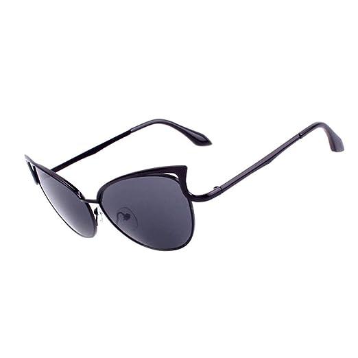 28e556291488 Amazon.com  Sumen Women Men Metal Frame Clear Lens Eyeglasses Sunglasses  (Black)  Clothing