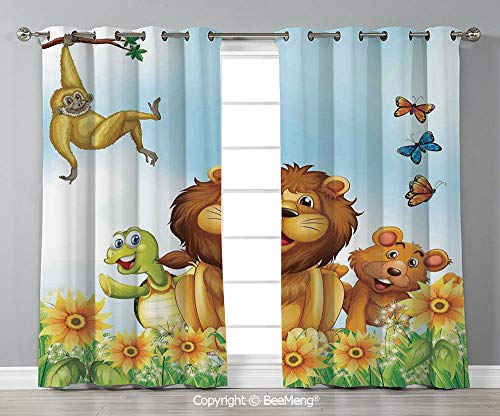 Thermal Decorative Insulated Blackout Curtains,Set of 2 Panels(108