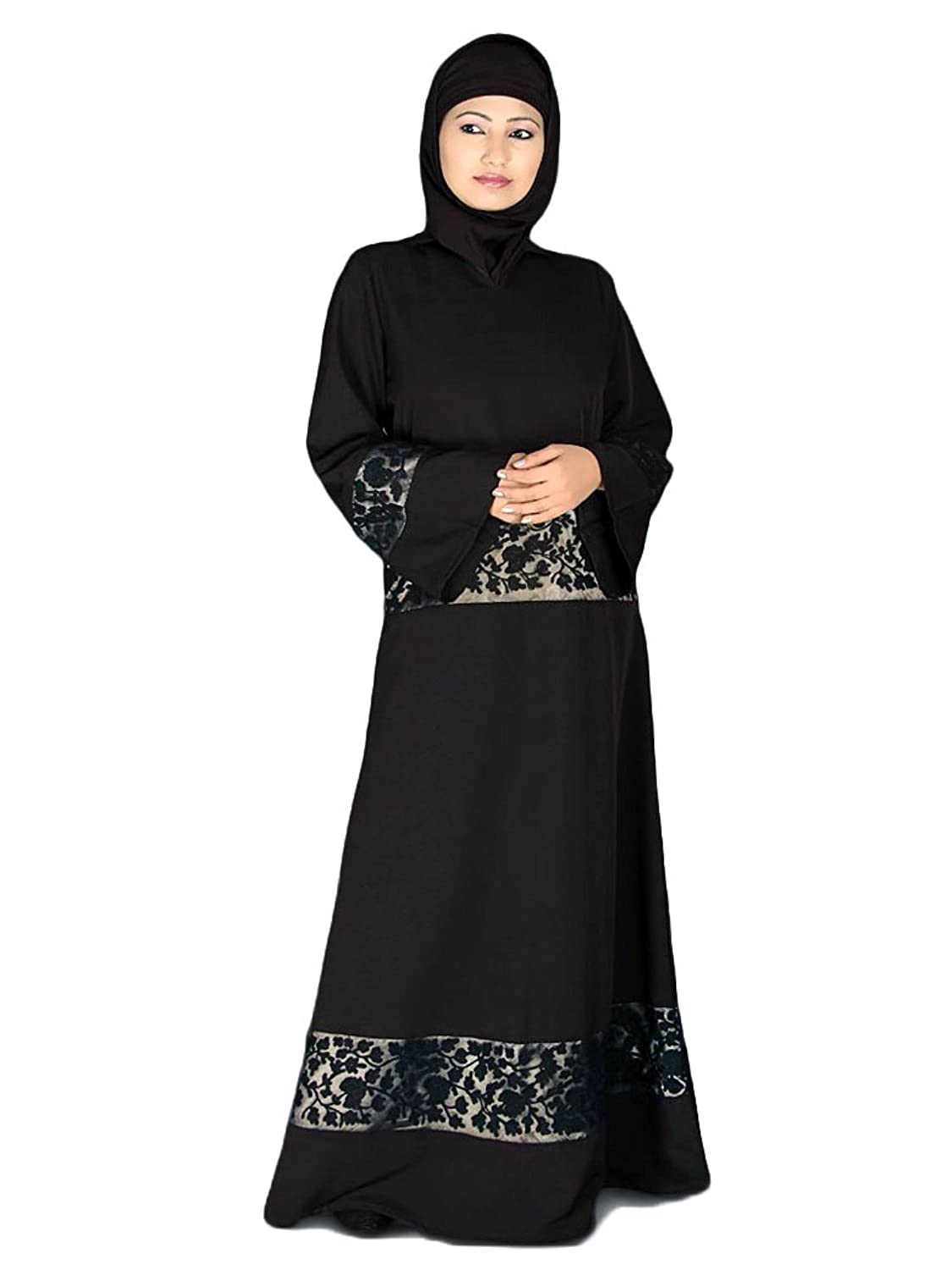 mybatua schwarz gestickte muslimische traditionelle eid party tragen frauen abaya burqa ay 017. Black Bedroom Furniture Sets. Home Design Ideas