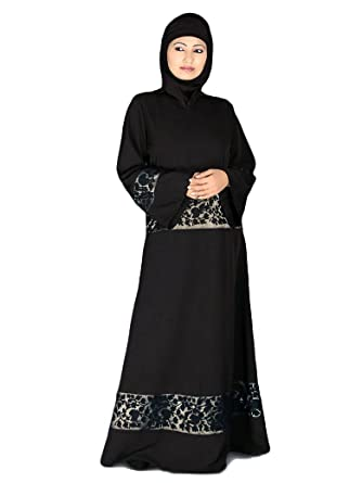 d996d5965a89 Amazon.com: MyBatua Women's Embroidered Abaya: Clothing