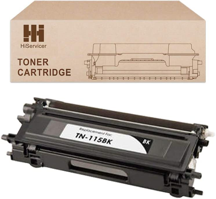 1xBlack HiServicer 1x Black Remanufactured Cartridge Replacement for Brother TN115-BK,TN115BK,for Brother TN115 Black use in HL4040CN HL4070CDW MFC9440CN MFC9450CDN MFC9840CDW DCP9040CN HL4040CDN