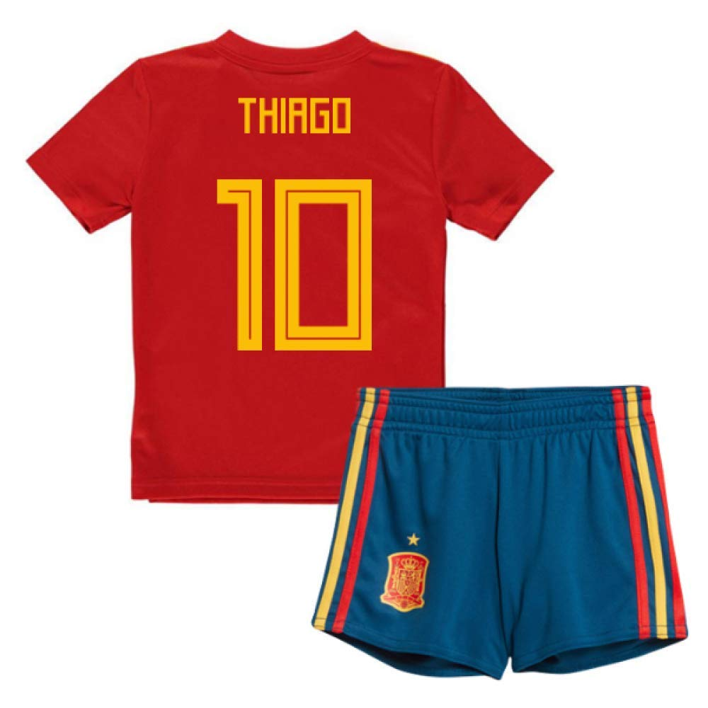 UKSoccershop 2018-19 Spain Home Mini Kit (Thiago Alcantara 10)