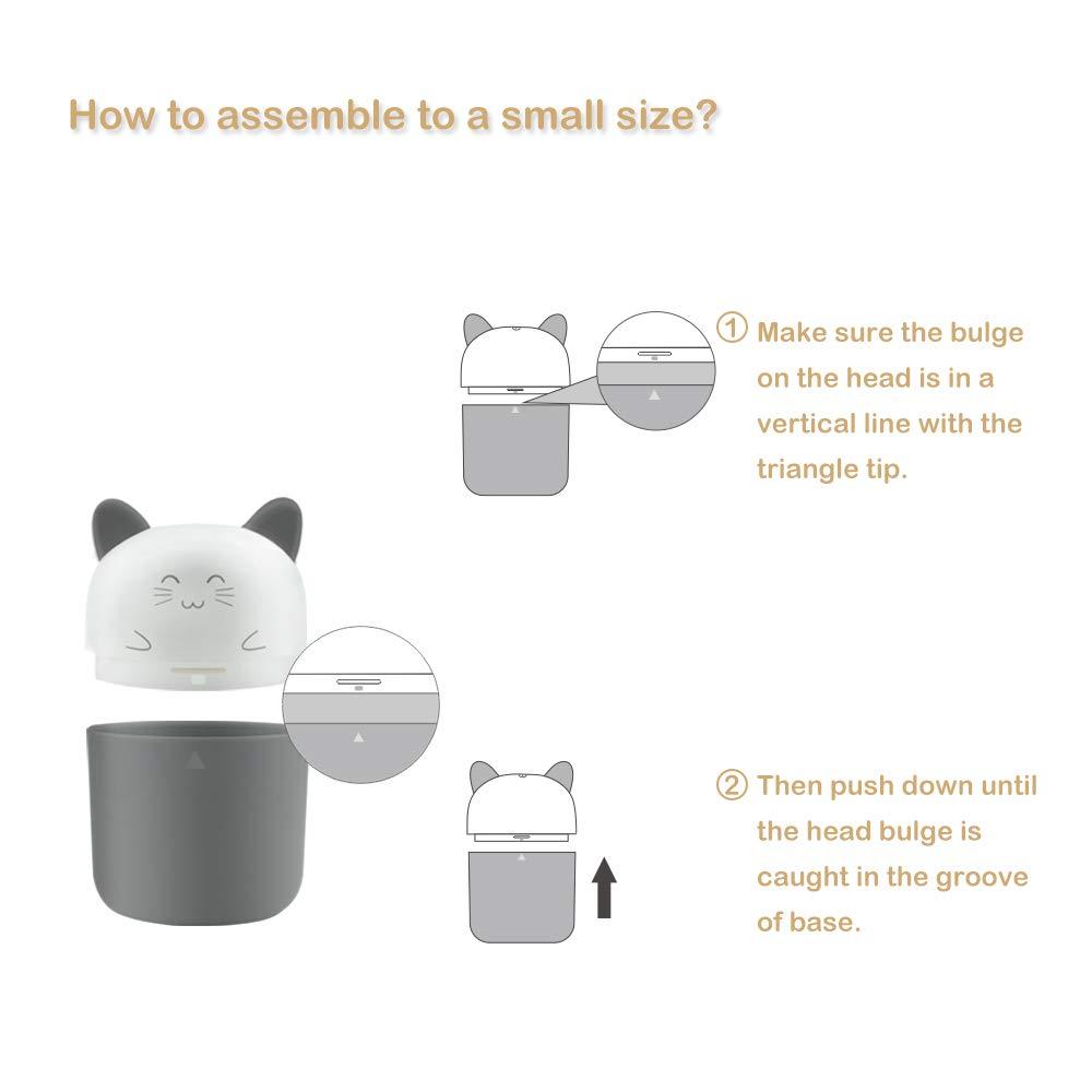 HopeU5 Cute Smile Outdoor Travel Portable Botella de alimentaci/ón del beb/é Esterilizador Infantil Botella de leche Esterilizadores UV y Ozono Doble esterilizaci/ón Gris