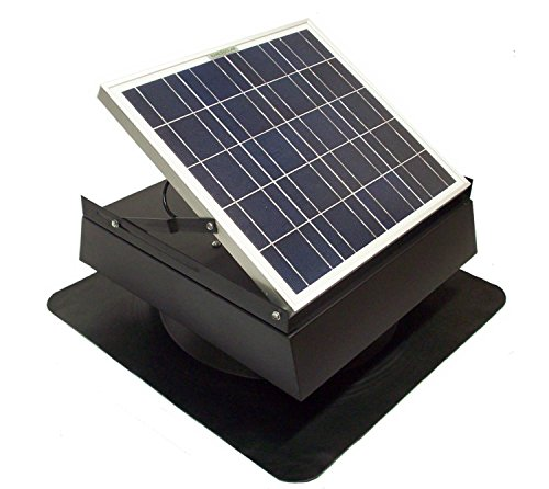 Rand 30 W Solar Battery Powered Attic Fan- Roof Top-Runs at Night!!- 30 Watt