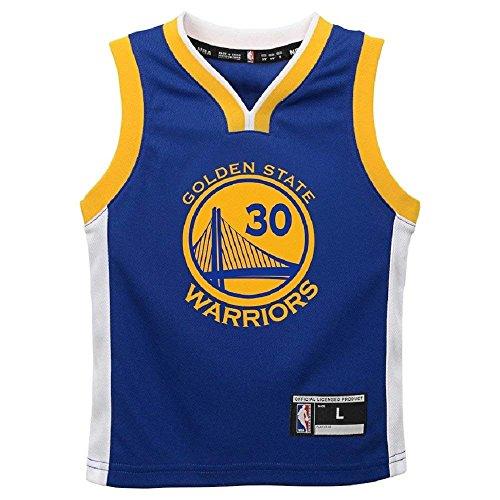 Stephen Curry Golden State Warriors NBA Kids Blue Road Replica Jersey (Kids 4) by Outerstuff