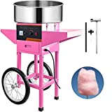 VBENLEM Commercial Cotton Candy Machine with Cart