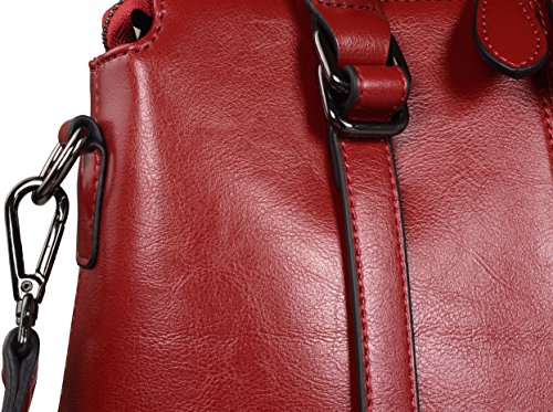 Satchel for Crossbody Leather Bags Ladies Purse r Top Handbags Tote Womens and Shoulder Handle Wine Handbag Heshe and BAwPHqxW