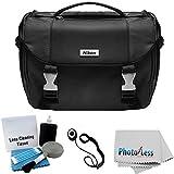Nikon Starter Digital SLR Camera/Lens Gadget Bag + Photo4less Cleaning Cloth + Camera & Lens 5 Piece Cleaning Kit + Lens Cap Holder + Ultimate Bundle