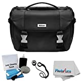 Nikon Starter Digital SLR Camera/Lens Gadget Bag + Photo4less Cleaning Cloth + Camera & Lens 5 Piece Cleaning Kit + Lens Cap Holder + Ultimate Bundle