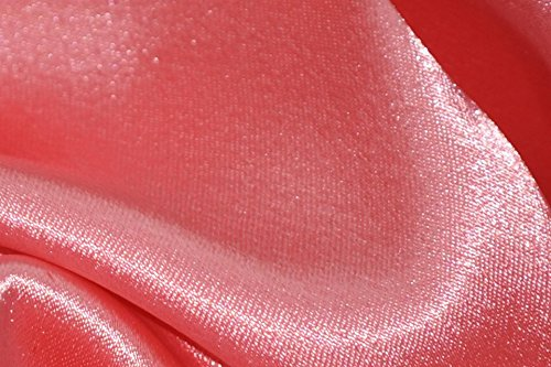 Crepe Back Satin Bridal Fabric CORAL Drapery Soft WIDE 30 YARD Roll WHOLESALE ()