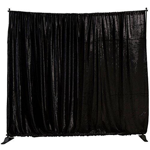 (Shindigz Black Velvet Fabric Background with Rod Pocket)
