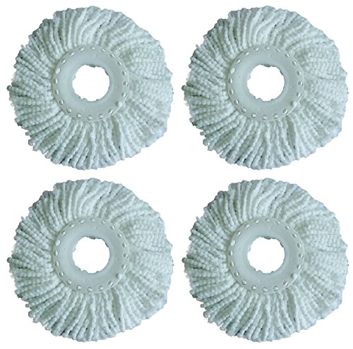 Green Direct Microfiber Replacement Mop Head For Spin Mop Deluxe Bucket Cleaning System Pack of 4