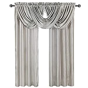 waterfall valance pattern luxury soho silver waterfall valance solid pattern 57x37 inches by royal hotel 2617