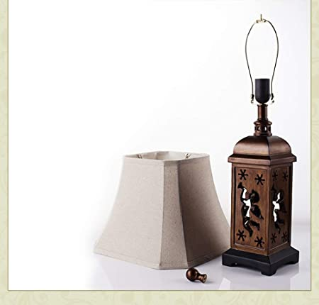 Amazon.com: PPWAN Table Lamp Retro Hollow Hand Desk Lamp ...