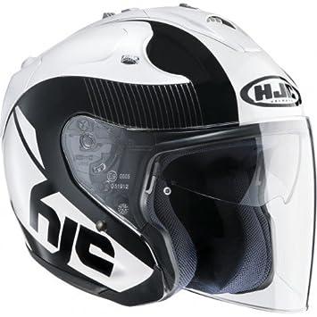 HJC casco Moto FG Jet Acadia MC5, Negro/Blanco, talla XS