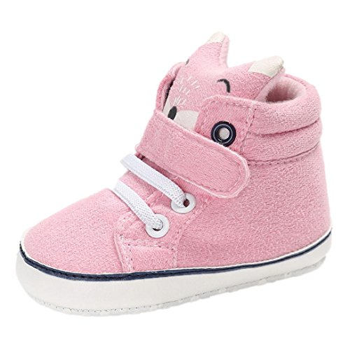 Xinan Sneaker Schuhe Sole Slip Soft Anti High Cut Baby Rosa Kleinkind Shoes 5qqxSwFTf