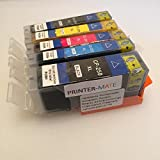 Canon Edible Ink 5 Pack Canon PGI 250 CLI 251 HIGH YIELD 250 251 MG5420, MG5520, MG6420, MX922 CLI-251BK, CLI-251C, CLI-251M, CLI-251Y, PGI-250BK CAKE PRINTING Printer-Mate