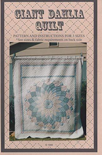 Giant Dahlia Quilt Pattern ()