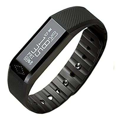 Toprime®Bluetooth Sync Live Waterproof Smart Fitness Tracker,Activity tracker,Smart Wristband Sleep Monitoring Tracking Calorie Anti-lost display Calling/Facebook/Skype/Messages Smart Watch