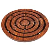 Stonkraft 6' inch Handcrafted Wooden Labyrinth Board Game Ball in a Maze Puzzle Toys - Indoor Puzzle Game Gifts for Kids   Boys   Girls