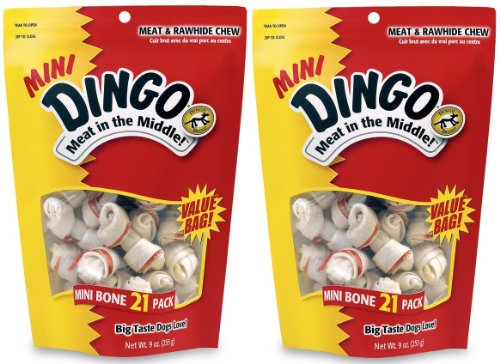 2-Pack-Dingo-Mini-White-25-Inch-21-Bones-each