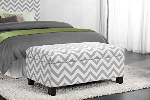 Dorel Living Chevron Storage Ottoman - End Of Bed Bench: Amazon.com