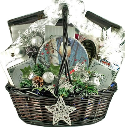 Starry Night Deluxe Holiday Gourmet Food Gift Basket - EXTRA LARGE Petite European Gift Basket