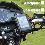 Die Hard CQLEK Waterproof Universal Zip Pouch Mount Stand/Motorcycle Mobile Holder for Bike (Black, 5.5 to 7 inch)