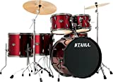 Tama Imperialstar 6-Piece Complete kit with Meinl HCS Cymbals and 22 in. Bass Drum Vintage Red