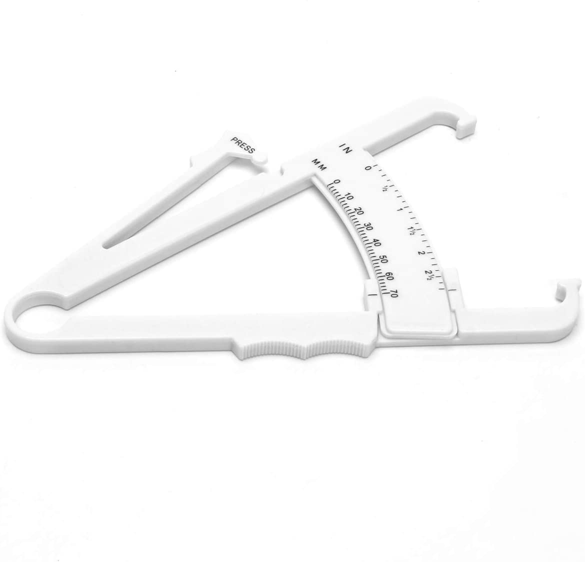 JF-XUAN Vernier Calipers Body Fat Tester Personal Measure Tool Plastic Analysis Instrument 0-70mm Caliper Fitness Accessories