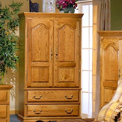 Bebe Furniture Country Heirloom Collection TV Armoire Wardrobe with Shelf, (Tv Armoire Furniture)