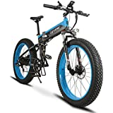 Folding Electric Cruiser Bicycle Extrbici XF690 500W 48V 10AH Li-Battery Fat Tire Bike Mountain Beach Snow Bicycle Full Suspension 7 Speed 26*4.0 Fat Tire 5 Setting Smart Computer Hydraulic Disc Brake