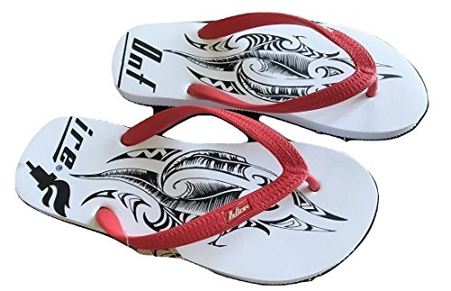 ONFIRE White Red Graphic Rubber Flip Flop / Sandals - Sizes 5 to 12 EHoFWErgIG
