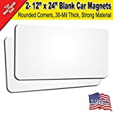 """2 Pack 12""""x24"""" Blank Car Magnets"""