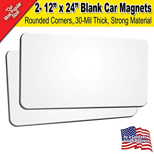 2 pack 12 x24 blank car magnets for 12 x 24 car door magnets