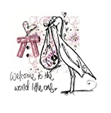 New Baby Girl Congratulations Embellished Greeting Card By Tracey Russell Cards