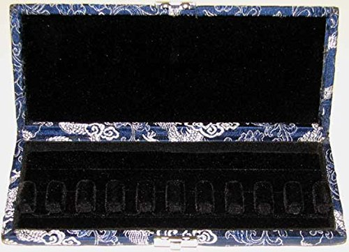 10-Reed Bassoon Reed Case Silk (Blue/Silver)