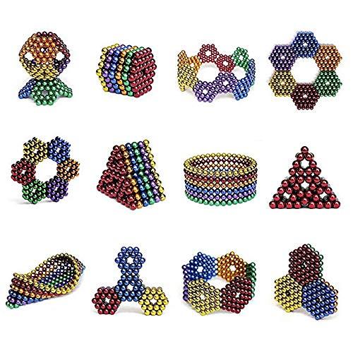ZHU Magnetiche da per Frigorifero,Gioco Creativo Decompressione,10 Colori 1000 Pezzi Combinato in Una Palla Infinita