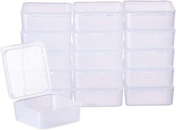 BENECREAT 24 Pack Cajas Transparente de Plástico Organizador de ...