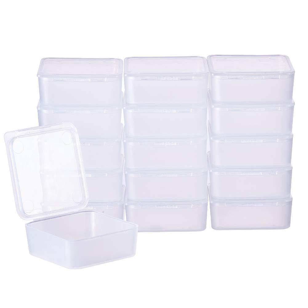 Pillole Erbe BENECREAT 30 Pack 7ml contenitori in plastica Trasparente contenitori di Perline con coperchi Flip-up per Articoli microsfere