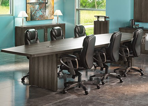 18ft Modern Conference Table with Power and Data Meeting Boardroom 6ft, Cherry 6ft