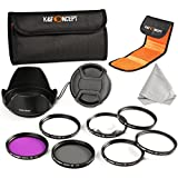 K&F Concept Professional 52mm Lens Filter Kit UV Protection CPL Circular Polarizing FLD Fluorescent Macro Close up +1 +2 +4 +10 For For Nikon D3200 D5100 D3100 D5200 18-55mm 200-400mm Camera Lenses + Lens Hood + Lens Cap + Cleaning Cloth + Shockproof Filter Bag