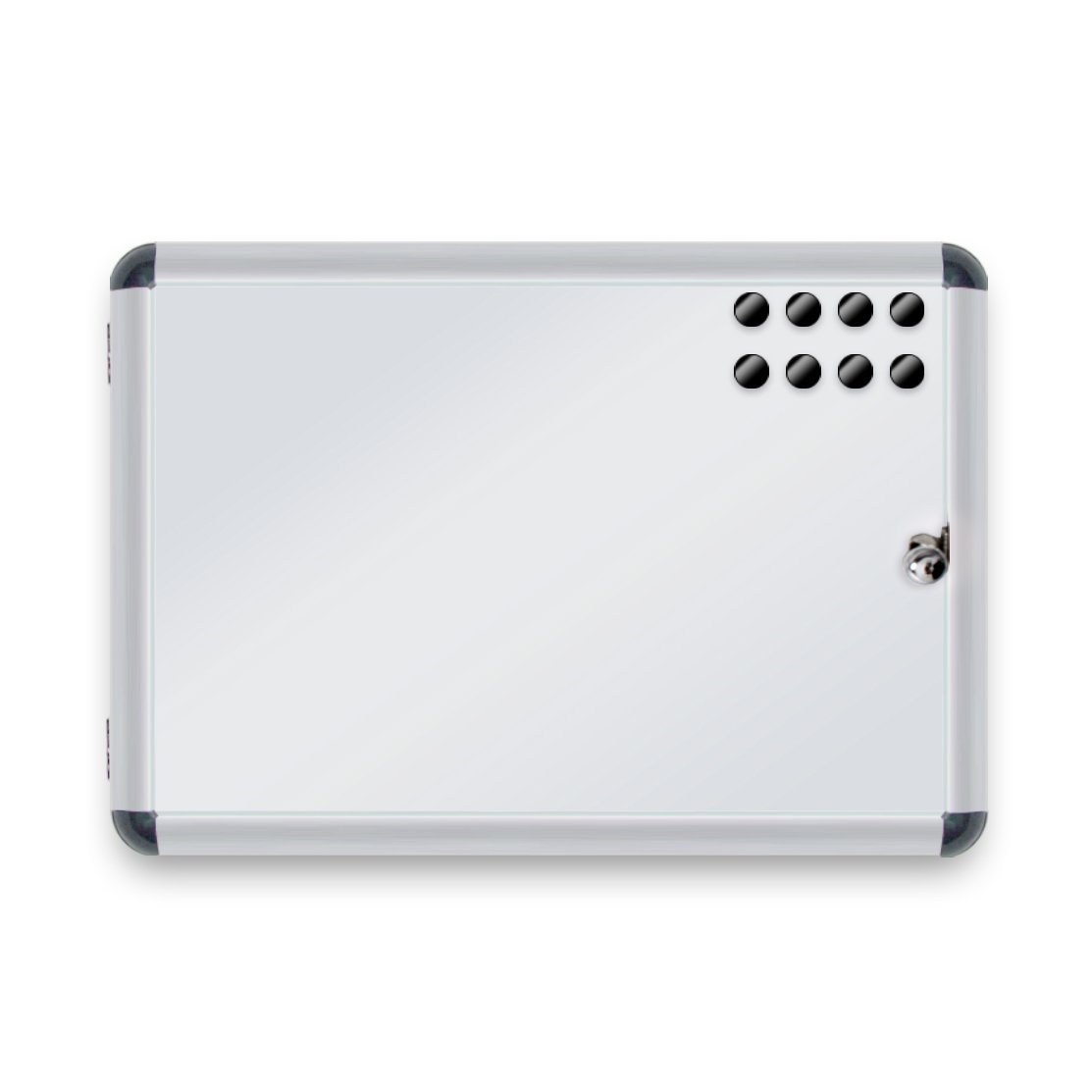 Lavagnetta Cancellabile Varie Misure 37 x 48 cm Lavagna Magnetica da Parete Bacheca con Chiave per Interni 2x A4